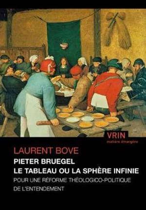 Pieter Bruegel : le tableau ou la sphère infinie : pour une réforme théologico-politique de l'entendement