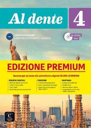 Al dente 4 : corso d'italiano B2 : libro dello studente + esercizi, CD audio, DVD
