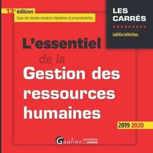 L'essentiel de la gestion des ressources humaines : 2019-2020