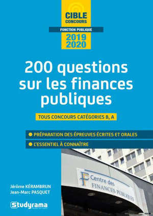 Les finances publiques : 200 questions, catégorie A, catégorie B : 2020