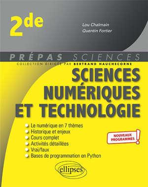 Sciences numériques et technologie 2de : nouveaux programmes