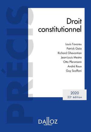 Droit constitutionnel : 2020