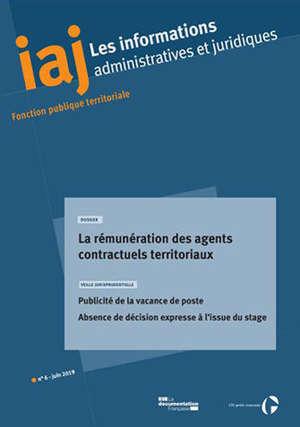 Informations administratives et juridiques. n° 6 (2019), La rémunération des agents contractuels territoriaux