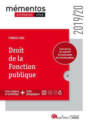 Droit de la fonction publique : 2019-2020