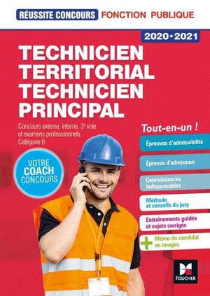 Technicien territorial, technicien principal : concours externe, interne, 3e voie, examens professionnels, catégorie B : tout-en-un !