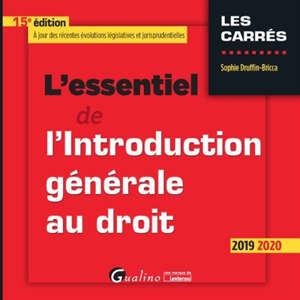 L'essentiel de l'introduction générale au droit : 2019-2020