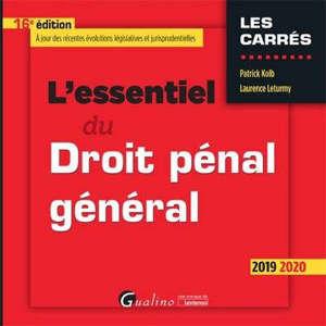 L'essentiel du droit pénal général : 2019-2020