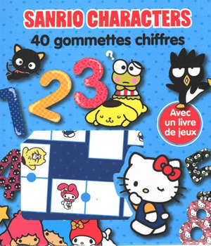 Sanrio characters : 40 gommettes chiffres