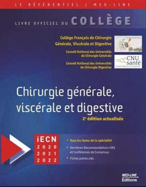 Chirurgie générale, viscérale et digestive : iECN 2020-2021-2022