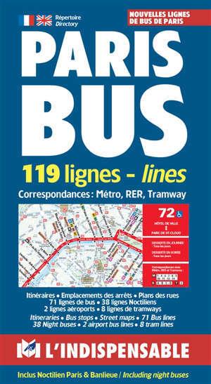 Paris bus : 119 lignes = Paris bus : 119 lines