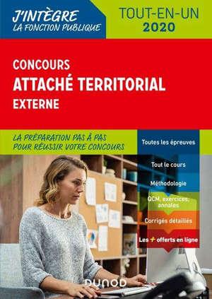 Concours attaché territorial externe : tout-en-un 2020
