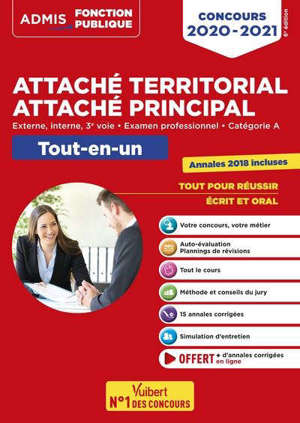 Attaché territorial : concours 2020 : catégorie A