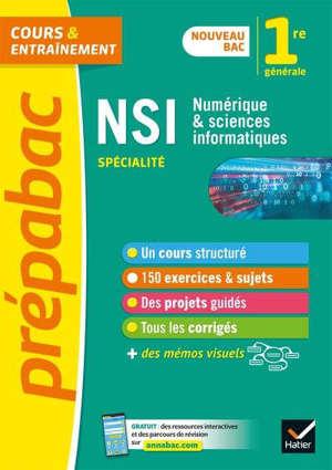 NSI, numérique & sciences informatiques, spécialité, 1re générale : nouveau bac