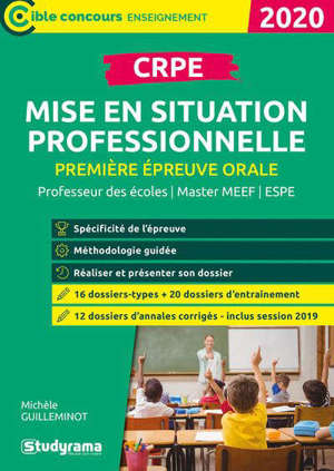 CRPE, première épreuve orale, mise en situation professionnelle : concours enseignant, master MEEF, ESPE : 2020