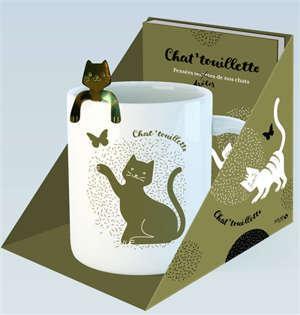 Coffret chat'touillette : pensées drôles de nos chats