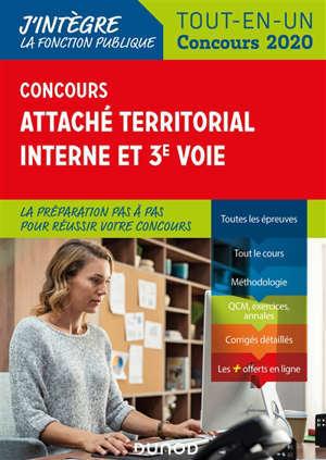 Concours attaché territorial interne et 3e voie : tout-en-un 2020