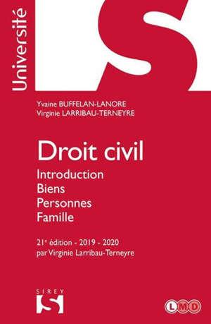 Droit civil : introduction, biens, personnes, famille : 2019-2020
