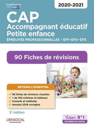 CAP accompagnant éducatif petite enfance : épreuves professionnelles EP1, EP2, EP3 2020-2021 : 90 fiches de révision