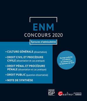 ENM, concours 2020 : épreuves d'admissibilité