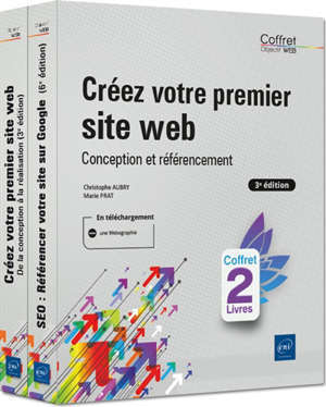 Créez votre premier site web : conception et référencement : coffret 2 livres