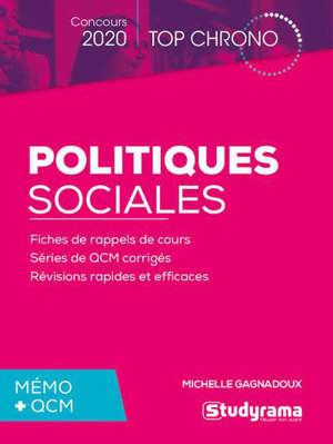 Politiques sociales, mémo + QCM : concours 2020