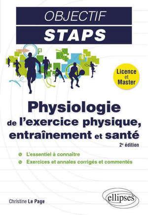 Physiologie de l'exercice physique, entraînement et santé : licence et master