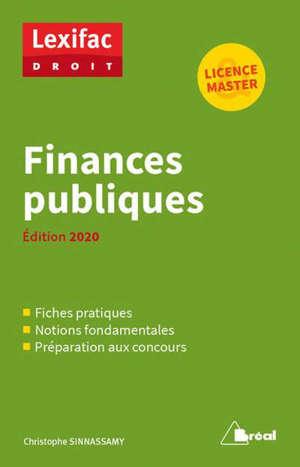 Finances publiques : licence, master