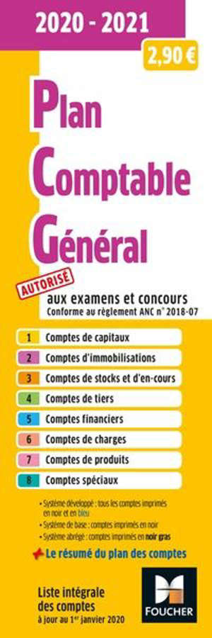 Plan comptable général 2020-2021