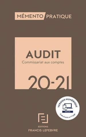 Audit, commissariat aux comptes 20-21