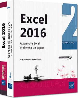 Excel 2016 : apprendre Excel et devenir un expert : coffret de 2 livres