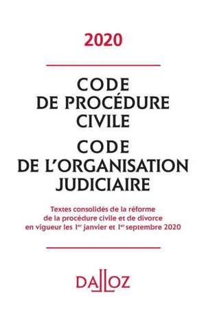 Code de procédure civile : code de l'organisation judiciaire : 2020