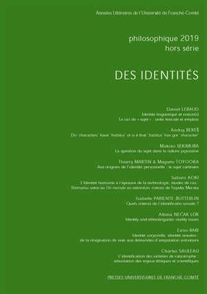 Philosophique. n° 2019-2, Des identités