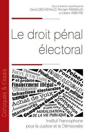 Le droit pénal électoral